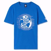 T-SHIRT A MANICHE CORTE UOMO NORTH SAILS ROYAL CON STAMPA FRONTALE