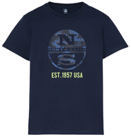 T-SHIRT IN JERSEY DI COTONE JUNIOR NORTH SAILS NAVY BLUE