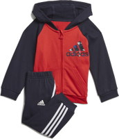 COMPLETO FULL ZIP BABY ADIDAS FRENCH TERRY BLU/ROSSA