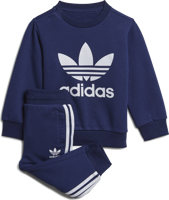 COMPLETO BABY ADIDAS BLU NOTTE CON STAMPA FRONTALE BIANCA