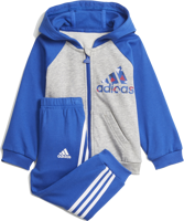 COMPLETO FULL ZIP BABY ADIDAS FRENCH TERRY GRIGIA/AZZURRA