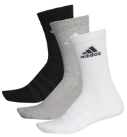 CALZE ADIDAS CUSHIONED 3PAIA BIANCHE/GRIGIE/NERE